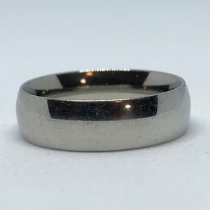 Smooth Stainless Steel Band Ring
